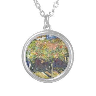 Die Lindens von Poissy durch Claude Monet Versilberte Kette