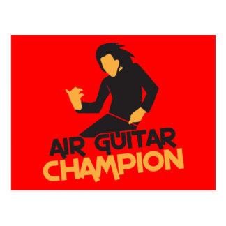 Die Luftgitarren-Meisterentwurf Postkarte