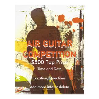 Die Luftgitarren-Wettbewerbs-Musik-Flyer