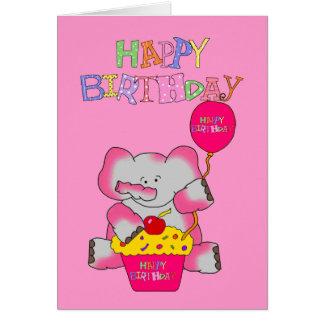 Die Mädchen-alles- Gute zum Geburtstagrosa Karte