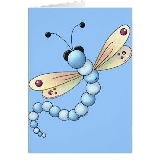 Die Mädchen-Libelle des Kindes Karte