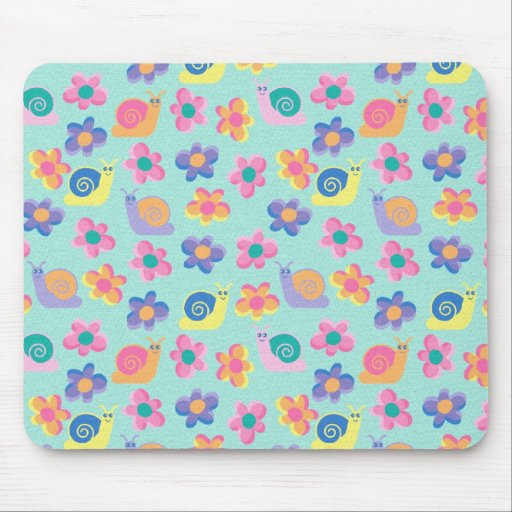 Die Mädchen Tischset Mousepad Kindes wenige Blumen