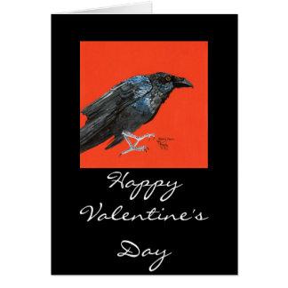 Die Magie des Raben, glückliches Valentine'sDay Karte