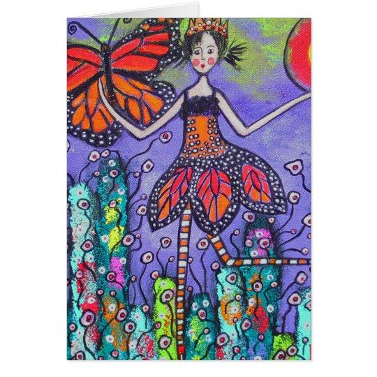 Die magische Monarch-Frühlings-Karte Grußkarte