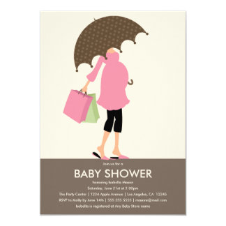 Die Mama, zum   Babyparty zu sein laden ein 12,7 X 17,8 Cm Einladungskarte