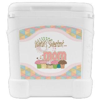 Die Mamma-Kuchen-Ausgaben-Muster der Welt süßestes Kühlbox Mit Rollen