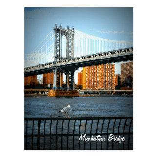 Die Manhattan-Brücke Postkarte