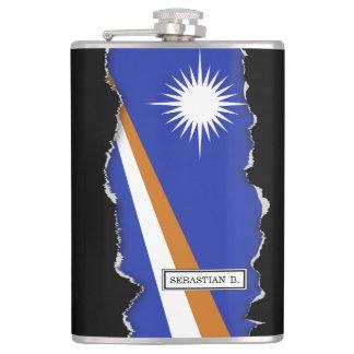 Die Marshallinseln-Flagge Flachmann