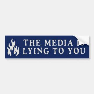 Die Medien liegt zu Ihnen Autoaufkleber