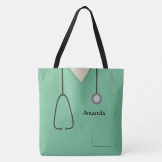 Die medizinische Krankenschwester scheuert Tasche