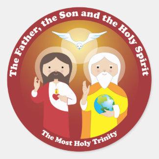 Die meiste Heilige Dreifaltigkeit Runder Aufkleber