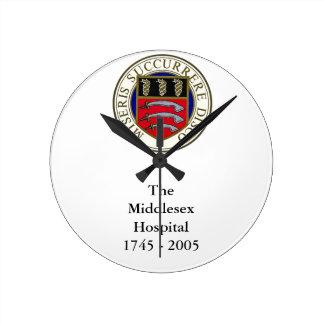 Die Middlesex-Krankenhaus-Uhr mit Benennung Runde Wanduhr
