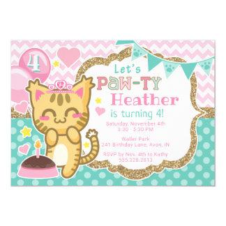 Die Miezekatze-Prinzessin Birthday Tatze-ty Karte