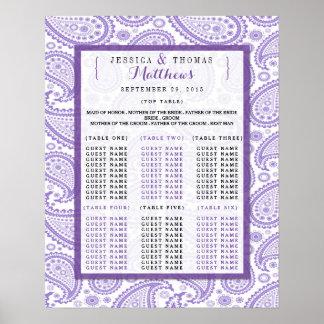 Die moderne Paisley-Hochzeits-Sammlung - lila Poster