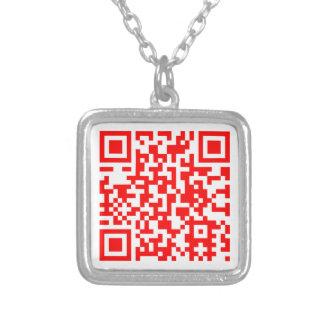 Die moderne Visitenkarte-Halskette Versilberte Kette