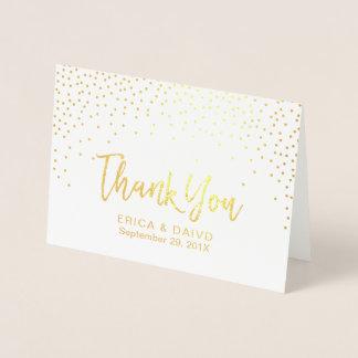 Die modernen Wedding Goldfolieconfetti-Punkte Folienkarte