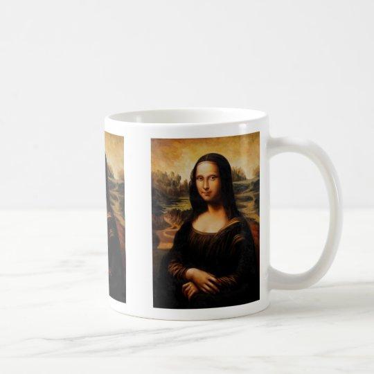 Die Mona Lisa durch Leonardo da Vinci Kaffeetasse