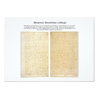 Die Monroe-Doktrin (1823) 12,7 X 17,8 Cm Einladungskarte