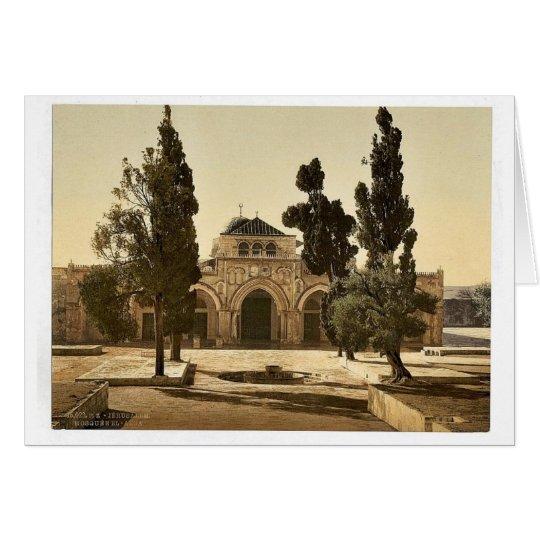Die Moschee von EL-Aksa, Jerusalem, Heiliges Land Grußkarte