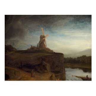 Die Mühle, 1645 - 48 (Öl auf Leinwand) Postkarte