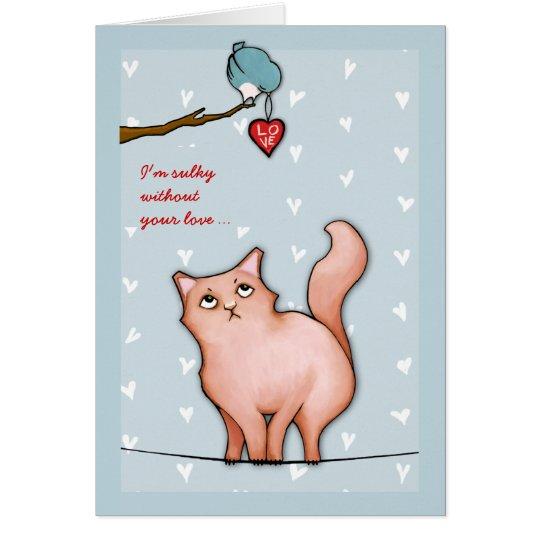 Die mürrische Valentinsgrußes mürrische Grußkarte