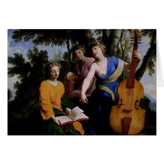 Die Musen Melpomene, Erato und Polymnia, 1652-55 Grußkarte