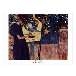 Die Musik durch Klimt Gustav Postkarte