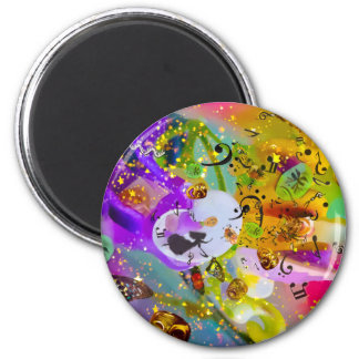 Die Musik kann alles ausdrücken und nichts sagen Runder Magnet 5,7 Cm