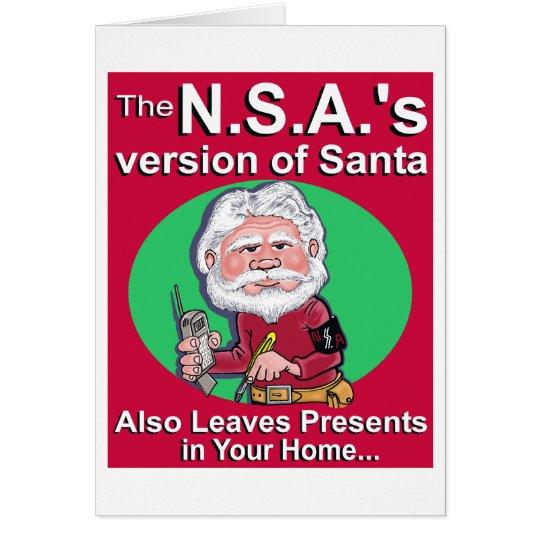 Die N.S.A. Version von Sankt Grußkarte