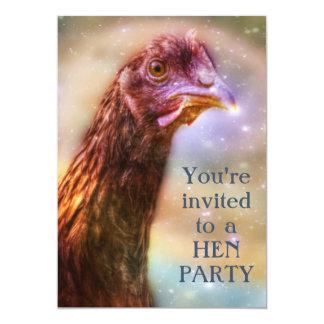 Die Nacht Bachelorette des Henne-Party-Mädchens 12,7 X 17,8 Cm Einladungskarte