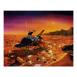 Die NASA-Marspolare Lander-Künstler-Konzept-Grafik Poster