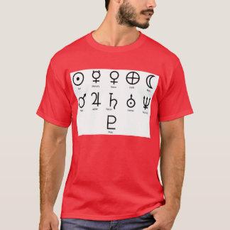 Die NASA-Planeten-Symbole T-Shirt