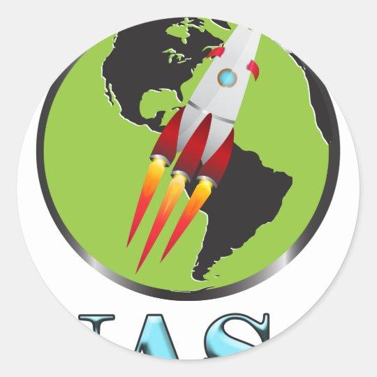 Die NASA-Raum Runder Aufkleber