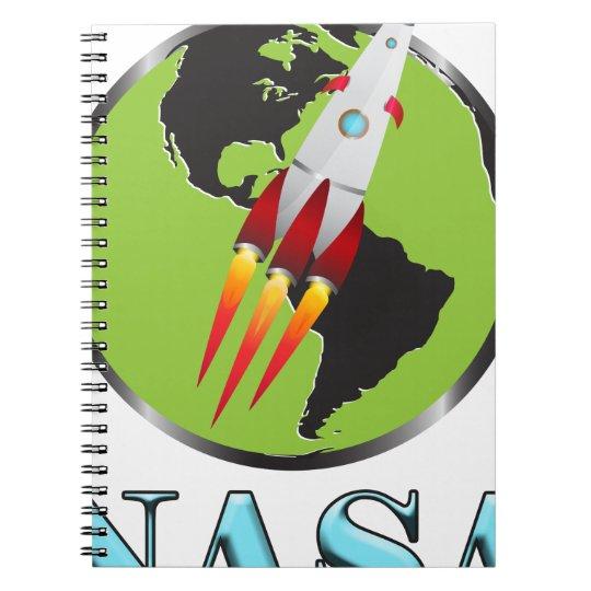 Die NASA-Raum Spiral Notizblock