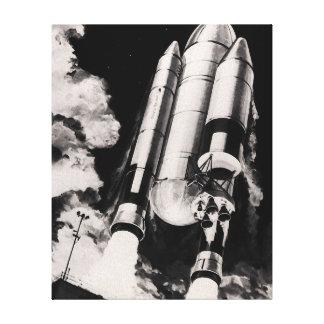 Die NASA-Raumfähre-Trägerrakete-Künstler-Konzept Leinwanddruck