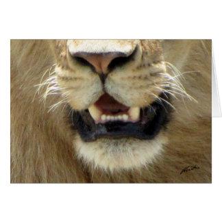 Die Nase (des Löwe-Verein-) Löwes u. Mund (Masai Karte