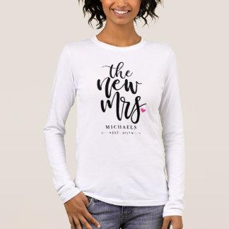 Die neue Frau. (Name) Mit Ihrem Wedding Jahr Langarm T-Shirt