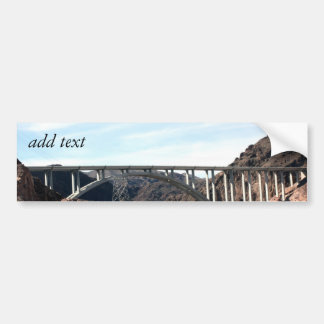 Die neue Hooverdamms-Überbrückungs-Brücke Autoaufkleber