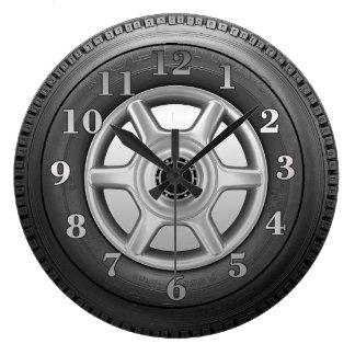 Die Neuheits-Wanduhr der LKW-Reifen-Männer Große Wanduhr