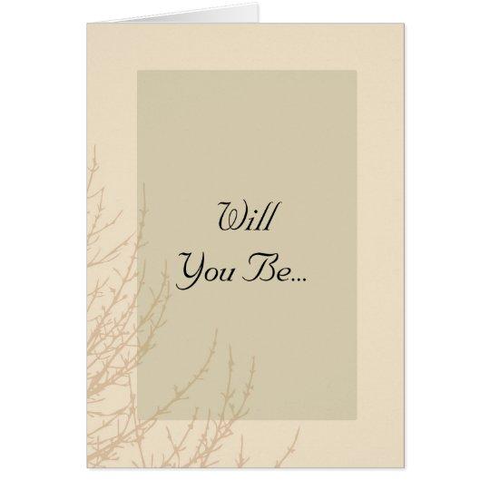 Die Niederlassungen der Natur sind Sie sind meine Karte