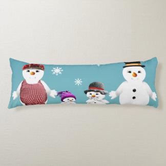 Die niedliche Familie des Snowmans für Weihnachten Seitenschläferkissen