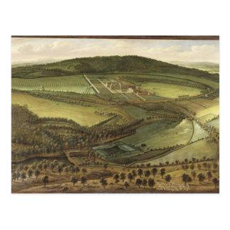 Die Nordaussicht des Hampton Court, c.1699 (Öl O Postkarte