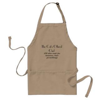 Die offizielle der Kochs-Schürze der Katze Schürze