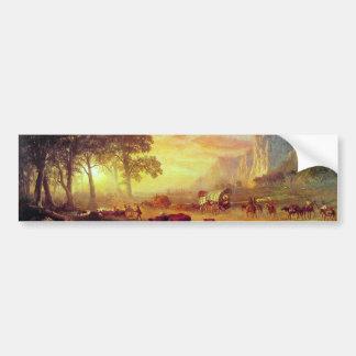 Die Oregon-Spur - Albert Bierstadt Autoaufkleber