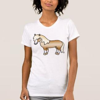 Die Palomino-Cartoon-Shetlandinseln-Pony T-Shirt