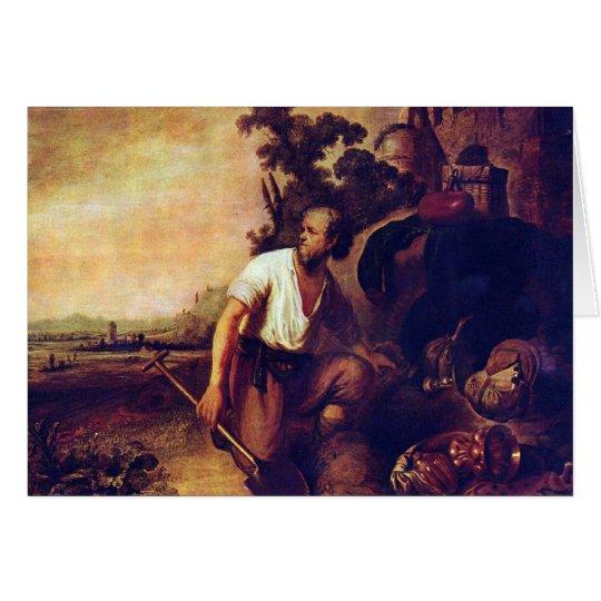 Die Parabel der Schatzgräber durch Rembrandt Mitteilungskarte