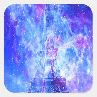 Die Pariser Träume des Liebhabers Quadratischer Aufkleber