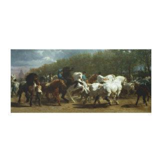 """""""Die Pferdemesse"""" durch Rosa Bonheur Leinwanddruck"""