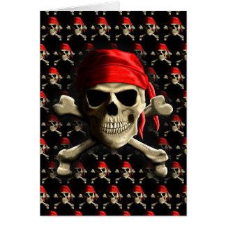 Die Piratenflagge Grußkarte
