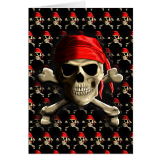 Die Piratenflagge Karte